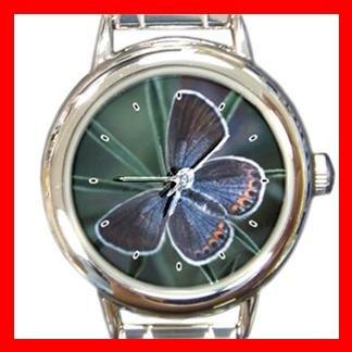 Female Butterfly Hobby Round Italian Charm Wrist Watch 402