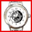 Karma Gecko Yin Yang Round Italian Charm Wrist Watch 403
