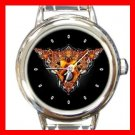 Cool Devil Head Art Round Italian Charm Wrist Watch 404