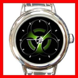 Biohazard Bio Hazard Green Round Italian Charm Wrist Watch 411