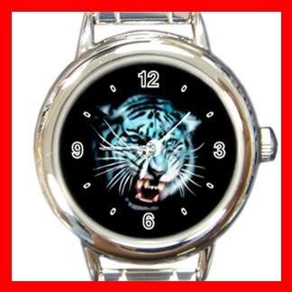 White Tiger Round Italian Charm Wrist Watch 417