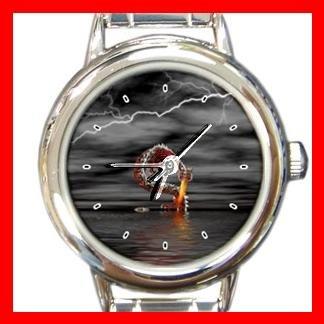 Red Dragon from Water Myth Round Italian Charm Wrist Watch 425