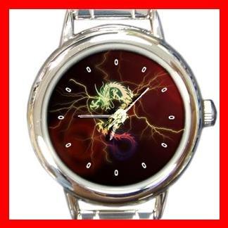 Red Dragon Ancient Myth Round Italian Charm Wrist Watch 426