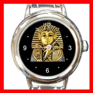 King Tut Tutenkh Egyptian Round Italian Charm Wrist Watch 432