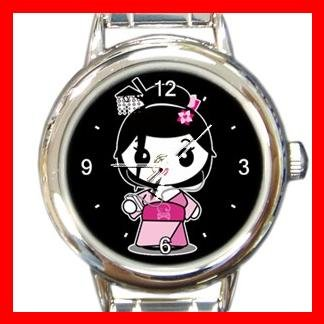 Geisha Geiko Janapese Art Round Italian Charm Wrist Watch 434