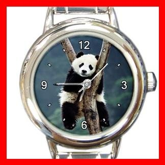 Panda Sleep Cute Animal Fun Round Italian Charm Wrist Watch 437