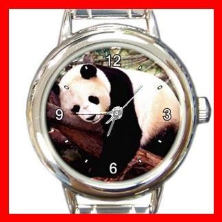 SLEEPING PANDA Animal Fun Round Italian Charm Wrist Watch 438