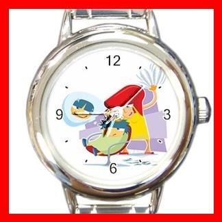 Hair Salon Round Italian Charm Wrist Watch 443