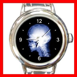 Skull Skeleton X-Ray Cool Round Italian Charm Wrist Watch 445