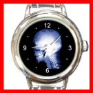 Skull Skeleton X-Ray Cool Round Italian Charm Wrist Watch 445