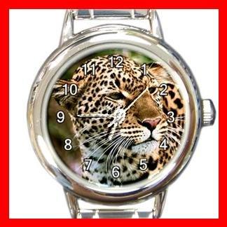 Amur Leopard Animal Round Italian Charm Wrist Watch 448