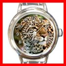 Amur Leopard Animal Round Italian Charm Wrist Watch 448