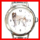 Great Pyrenees Dog Pet Round Italian Charm Wrist Watch 467