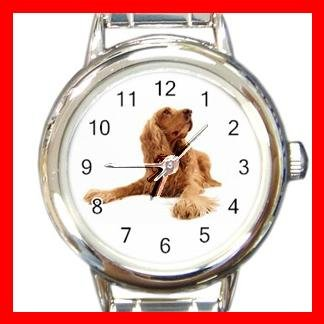 American Cocker Spaniel  Dog Pet Round Italian Charm Wrist Watch 469