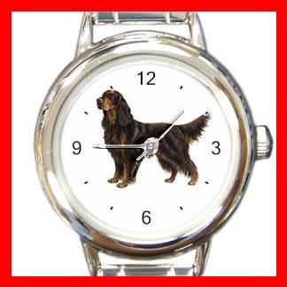 Gordon Setter Dog Pet Round Italian Charm Wrist Watch 470