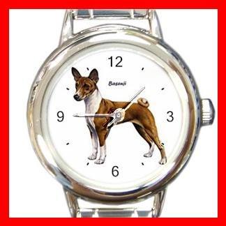 Basenji Dog Pet Round Italian Charm Wrist Watch 472