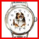 Collie Dog Pet Round Italian Charm Wrist Watch 476