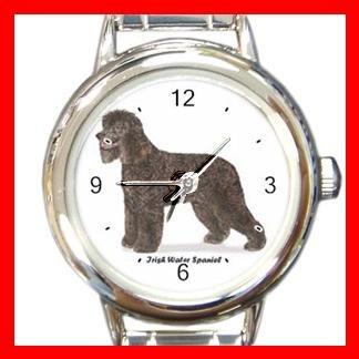 Irish Water Spaniel Dog Pet Round Italian Charm Wrist Watch 477