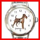 Irish Terrier Dog Pet Round Italian Charm Wrist Watch 478