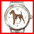Irish Terrier Dog Pet Round Italian Charm Wrist Watch 479