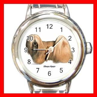 Lhasa Apso Dog Pet Round Italian Charm Wrist Watch 481