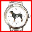 Rottweiler Rotty Dog Pet Round Italian Charm Wrist Watch 483