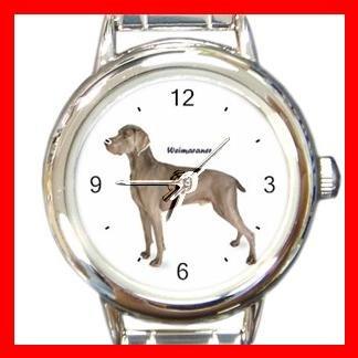 Weimaraner Dog Pet Round Italian Charm Wrist Watch 489