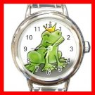 FROG PRINCE FROGGY TOAD Round Italian Charm Wrist Watch 492