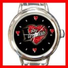 I LOVE MY GRANDKIDS Kids Round Italian Charm Wrist Watch 494