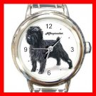 Affenpinscher Dog Pet Round Italian Charm Wrist Watch 490