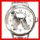 Afghan Hound Dog Pet Round Italian Charm Wrist Watch 499