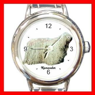 Komondor Dog Animal Pet Round Italian Charm Wrist Watch 502