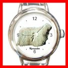 Komondor Dog Animal Pet Round Italian Charm Wrist Watch 502