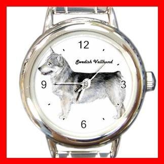Swedish Vallhund Dog Animal Pet Round Italian Charm Wrist Watch 505