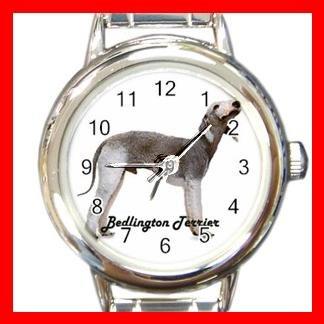 Bedlington Terrier Dog Animal Pet Round Italian Charm Wrist Watch 506