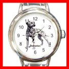 Dalmatian Dog Animal Pet Round Italian Charm Wrist Watch 513