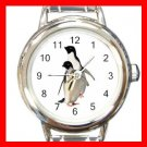 PENGUINS Birds Round Italian Charm Wrist Watch 517