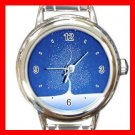 Snow Flakes from Trees Round Italian Charm Wrist Watch 521