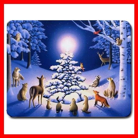 Snow Animas Christmas XMAS WISH Mouse Pad MousePad Mat 002