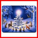 Snow Animas Christmas XMAS WISH Mouse Pad MousePad Mat 002