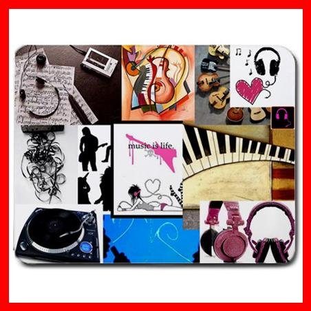 Music Is Life Graphic Hobby Mouse Pad MousePad Mat 022
