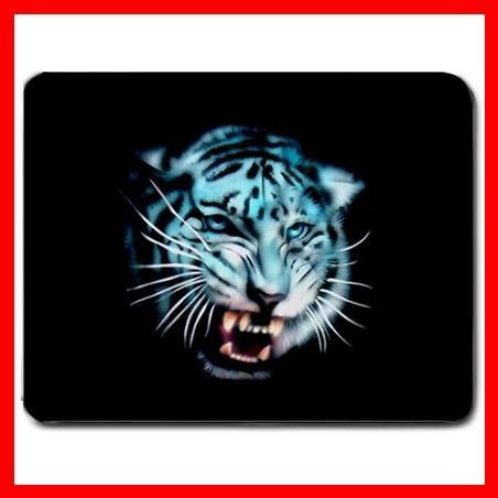 White Tiger Wild Animal Fan Mouse Pad MousePad Mat 024