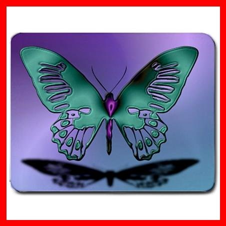 Blue Butterfly Stylish Hobby Mouse Pad MousePad Mat 032