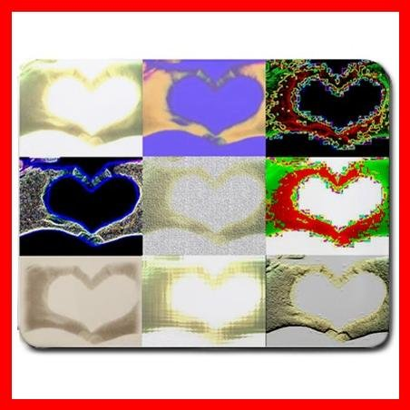 Hearts Collage Art Love Fun Mouse Pad MousePad Mat 037