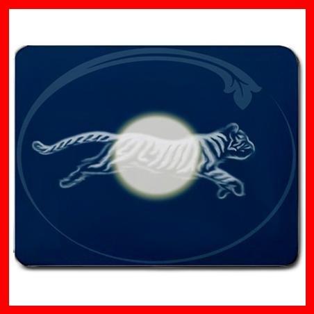 WILD TIGER & MOON Animal Art Mouse Pad MousePad Mat 050