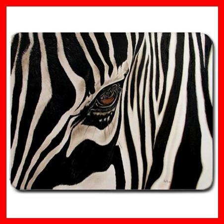 Zebra Eye Skin Wild Animal Mouse Pad MousePad Mat 052