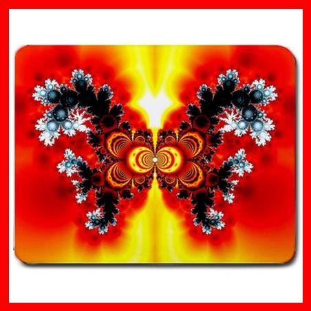 Fractal Butterfly Flower Fun Mouse Pad MousePad Mat 062