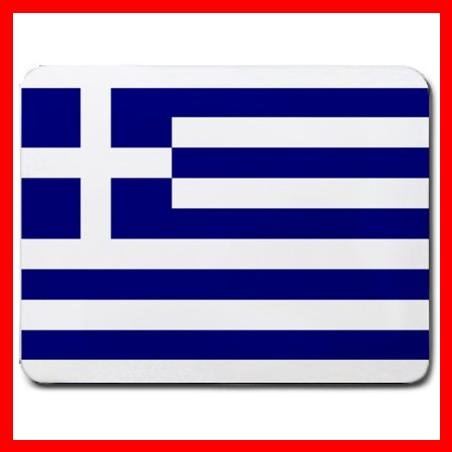 Greek Flag Nation Patriotic Mouse Pad MousePad Mat 092