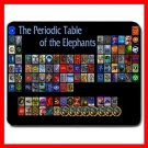 Periodic Table of The Elephants Mouse Pad MousePad Mat 094