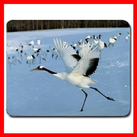 Crane Hokkaido Japan Bird Mouse Pad MousePad Mat 113